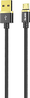 Кабель Olmio Deluxe USB 2.0 - microUSB 2.1A / 038853 (1м, черный) -