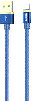 Кабель Olmio Deluxe USB 2.0 - Type-C 2.1A / 038857 (1м, синий) -