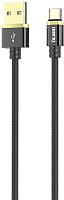 Кабель Olmio Deluxe USB 2.0 - Type-C 2.1A / 038855 (1м, черный) -