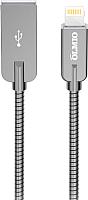 Кабель Olmio Steely USB 2.0 - Lightning 2.1A / 038649 (1.2м, серый) -