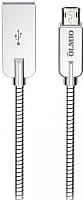 Кабель Olmio Steely USB 2.0 - microUSB 2.1A / 038650 (1.2м, серебристый) -