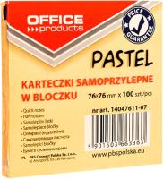 Блок для записей Office Products На клейкой основе / 14047611-07 (оранжевый пастель) -