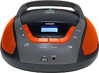 Магнитола Telefunken TF-CSRP3496B (черный/оранжевый) -