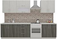 Готовая кухня ВерсоМебель ВерсоЛайн 2-2.4 (северное дерево светлое/северное дерево темное) -