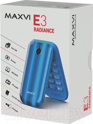 Мобильный телефон Maxvi E3 Radiance (черный)