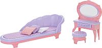 Комплект аксессуаров для кукольного домика Огонек Будуар. Маленькая принцесса / С-1460 (розовый) -