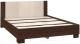 Полуторная кровать Империал Аврора 120 с основанием (венге/дуб молочный) -