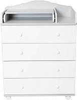 Комод Incanto Agio 800/4 (серый/белый) -