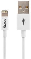 Кабель Olmio MFI USB 2.0 - iPhone/iPod/iPad 8pin / 038903 (1м, белый) -