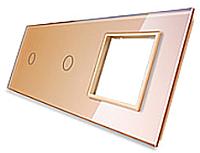 Лицевая панель комбинированная Livolo BB-C7-C1/C1/SR-13 (золото) -
