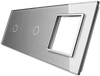 Лицевая панель комбинированная Livolo BB-C7-C1/C1/SR-15 (серый) -