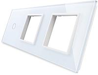 Лицевая панель комбинированная Livolo BB-C7-C1/SR/SR-11 (белый) -