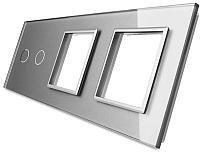Лицевая панель комбинированная Livolo BB-C7-C2/SR/SR-15 (серый) -