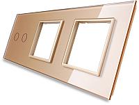 Лицевая панель комбинированная Livolo BB-C7-C2/SR/SR-13 (золото) -