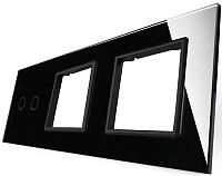 Лицевая панель комбинированная Livolo BB-C7-C2/SR/SR-12 (черный) -