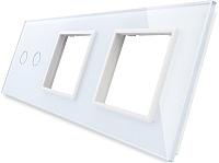 Лицевая панель комбинированная Livolo BB-C7-C2/SR/SR-11 (белый) -