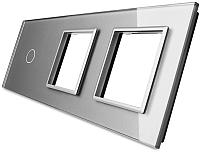 Лицевая панель комбинированная Livolo BB-C7-C1/SR/SR-15 (серый) -
