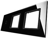 Лицевая панель комбинированная Livolo BB-C7-C1/SR/SR-12 (черный) -