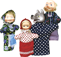 Набор кукол-перчаток Огонек Красная шапочка / С-1342 -