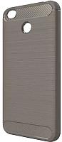Чехол-накладка CASE Brushed Line для Redmi 4X (серый) -