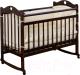 Детская кроватка Incanto Sofi с сердечком (темный) -