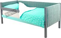 Кровать-тахта Бельмарко Skogen / 752 (графит/мятный) -