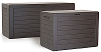 Сундук уличный Prosperplast Woodebox / MBWL280-440U (коричневый) -