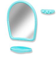 Комплект мебели для ванной Белпласт 21 / С494-2830 (голубой) -