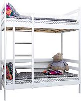 Двухъярусная кровать Incanto Altezza (без ящиков, береза) -
