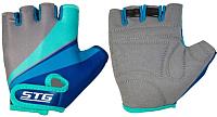 Перчатки велосипедные STG Х87908 (XS, серый/салатовый/бирюзовый) -