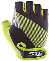 Перчатки велосипедные STG Х87911 (XL, черный/салатовый) -