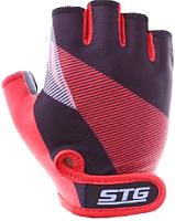 Перчатки велосипедные STG Х87912 (S, черный/красный) -