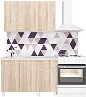 Готовая кухня Горизонт Мебель Point 120 (сонома) -