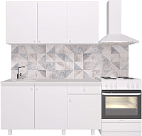 Готовая кухня Горизонт Мебель Point 150 (белый) -