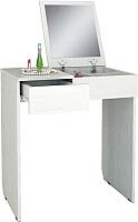 Туалетный столик с зеркалом MFMaster Риано-01 / МСТ-ТСР-01-БТ-02 (белый) -