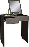 Туалетный столик с зеркалом MFMaster Риано-01 / МСТ-ТСР-01-ВМ-02 (венге) -