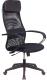 Кресло офисное King Style KE-708 (кожзам черный/сетка черный) -