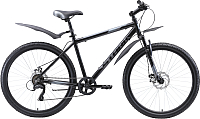 Велосипед STARK Respect 26.1 D Microshift 2020 (18, черный/серый/серый) -