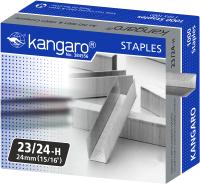 Скобы канцелярские Kangaro 23/24H (1000шт) -