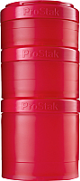 Набор контейнеров Blender Bottle ProStak Expansion Pak Full Color / BB-PREX-FCRE (красный) -