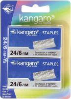 Скобы канцелярские Kangaro 24/6-М/Y2 (2000шт) -