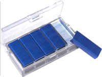 Скобы канцелярские Kangaro 24/6 (800шт, синий) -