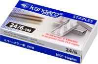 Скобы канцелярские Kangaro Эко-серия / 24/6-1М (1000шт) -