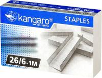 Скобы канцелярские Kangaro 26/6-1М (1000шт) -