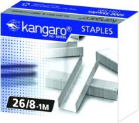 Скобы канцелярские Kangaro 26/8 (1000шт) -