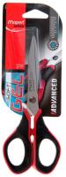 Ножницы канцелярские Maped Advanced Gel / 496210 (17см, черный/красный) -