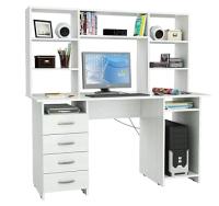 Компьютерный стол MFMaster Милан-6 / М-6Н-БТ (белый) -