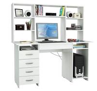 Компьютерный стол MFMaster Милан-6Я / М-6ЯН-БТ (белый) -