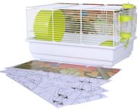 Клетка для грызунов Voltrega 001113BР (белый/зеленый) -