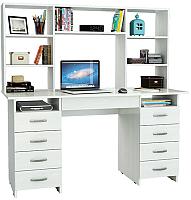 Компьютерный стол MFMaster Милан-10Я / М-10ЯН-БТ (белый) -